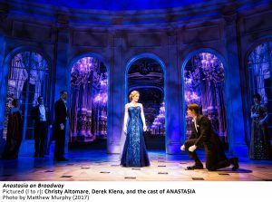 Christy Altomare, Derek Klena, and the cast of ANASTASIA in ANASTASIA on Broadway, Photo by Matthew Murphy, 2017