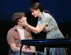 Derek Klena and Kelli O'Hara in The Bridges of Madison County