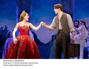 Christy Altomare, Derek Klena in ANASTASIA on Broadway, photo credit Matthew Murphy 2017