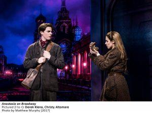 Derek Klena, Christy Altomare in ANASTASIA on Broadway, Photo by Matthew Murphy, 2017
