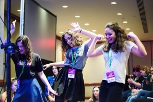 Attendees dance at one of the BroadwayCon Singalongs