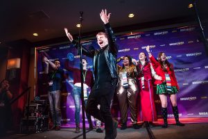 Andrew Keenan-Bolger makes a surprise appearance at the Disney Musicals Singalong