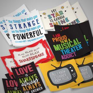 Broadway Wiz Stickers