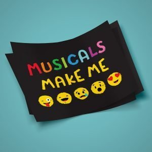 Musicals Make Me... Emoji Face Sticker