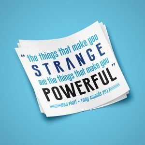 Strange is Powerful Sticker